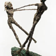 Dance On A Hill Top Back View Art Print by Adam Long
