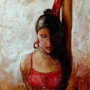 Dancer In Red Art Print