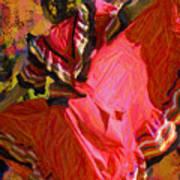 Dancer In Reds Art Print