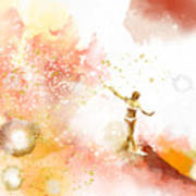 Dancer On Water 2 Art Print