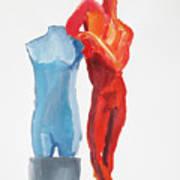 Dancer With Mannekin Art Print