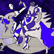 Dancers Dancing Art Print