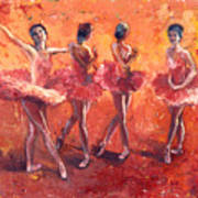 Dancers In The Flame Art Print