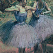 Dancers In Violet  Art Print