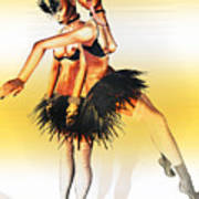 Dancers Art Print by Theda Tammas