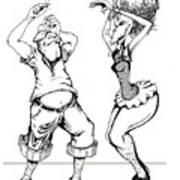 Dancin Fools Art Print