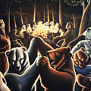 Dancing Bears Painting Art Print