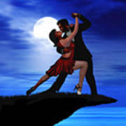 Dancing By Moonlight Art Print