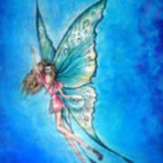 Dancing Fairy In Blue Sky Art Print