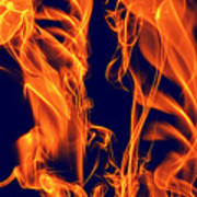 Dancing Fire I Art Print