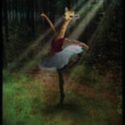 Dancing Giraffe Art Print