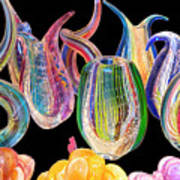 Dancing Glass Objects Art Print