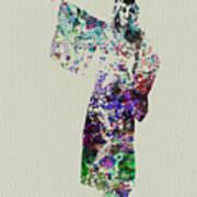 Dancing In Kimono Art Print by Naxart Studio