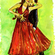 Dancing In The Showlights Art Print