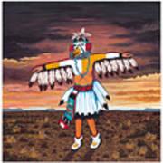 Dancing Kachina Art Print