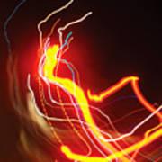 Dancing Light Streaks-1 Art Print