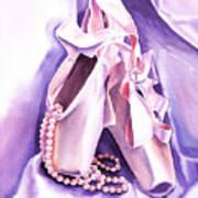 Dancing Pearls Ballet Slippers  Art Print