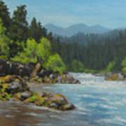 Dancing River Art Print