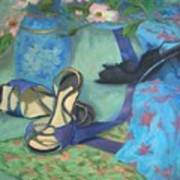 Dancing Shoes And Dogwoods Art Print