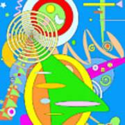 Dancing Spirals 2 Art Print