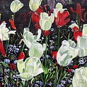 Dancing Tulips Art Print
