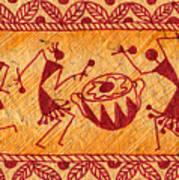 Dancing Warlis Art Print