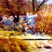 Dancing Winter Shadows Art Print