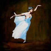 Dancing With Dasies  Art Print