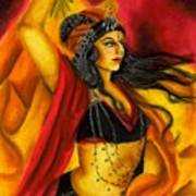 Dancing With Fire Art Print