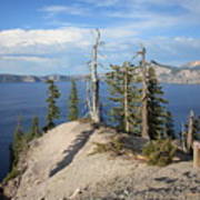 Dangerous Slope At Crater Lake Art Print