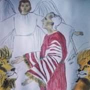 Daniel And Lion's Den Art Print