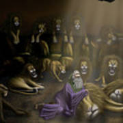 Daniel And The Lions Den Art Print