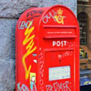 Danish Mailbox Art Print