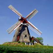 Danish Windmill Art Print