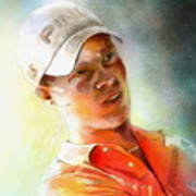 Danny Willett In The Madrid Masters Art Print