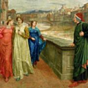 Dante And Beatrice Art Print