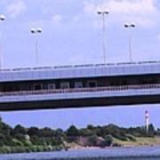 Danube River Bridges Art Print