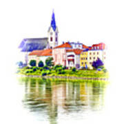 Danube Village Art Print