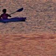 Danvers River Kayaker Art Print
