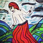 Danza De Mar Y Luna Art Print