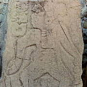 Danzantes Stone Carving Art Print