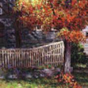 Dappled Fence Art Print