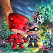 Funkos Daredevil And The Phantom In The Jungle Art Print