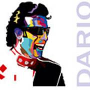 Dario Franchitti Pop Art Style Art Print