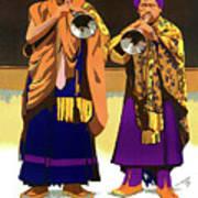 Darjeeling, Lama Dance Musicians, India Art Print