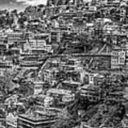 Darjeeling Monochrome Art Print