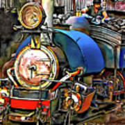 Darjeeling Toy Train Art Print