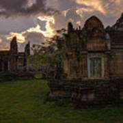 Dark Cambodian Temple Art Print