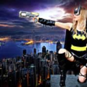 Dark City Of The Bat Art Print