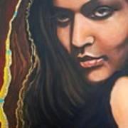Dark Soulful Latin Eyes          From The Attitude Girls Art Print